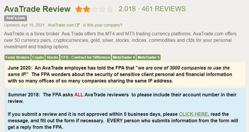 Forex peace army avatrade rating